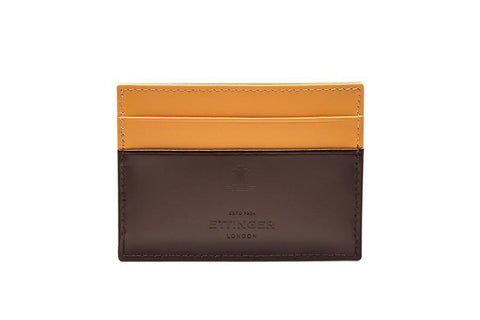 Bridle Hide Flat Card Case (Personalisation)