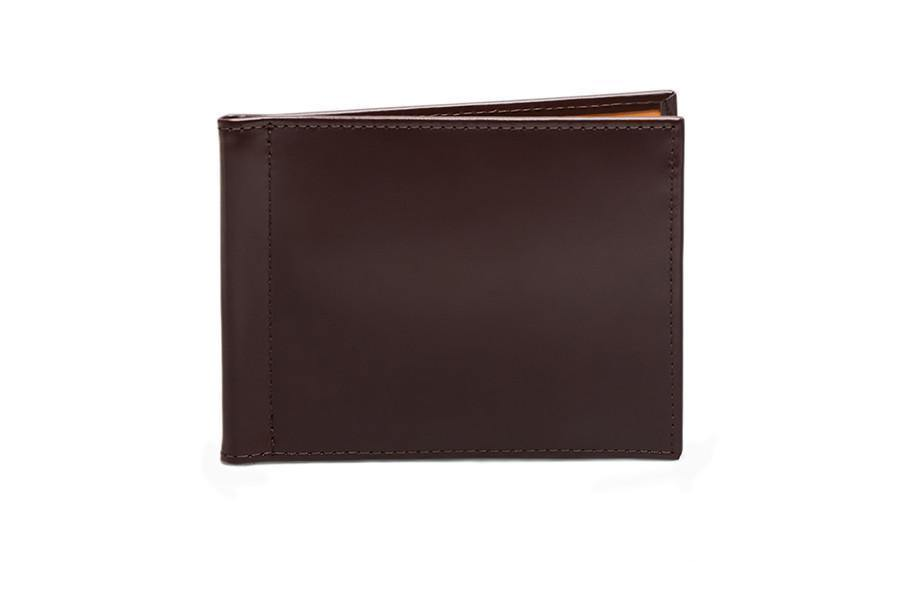 Bridle Money Clip Wallet - Nut (Personalisation) - onlybrown