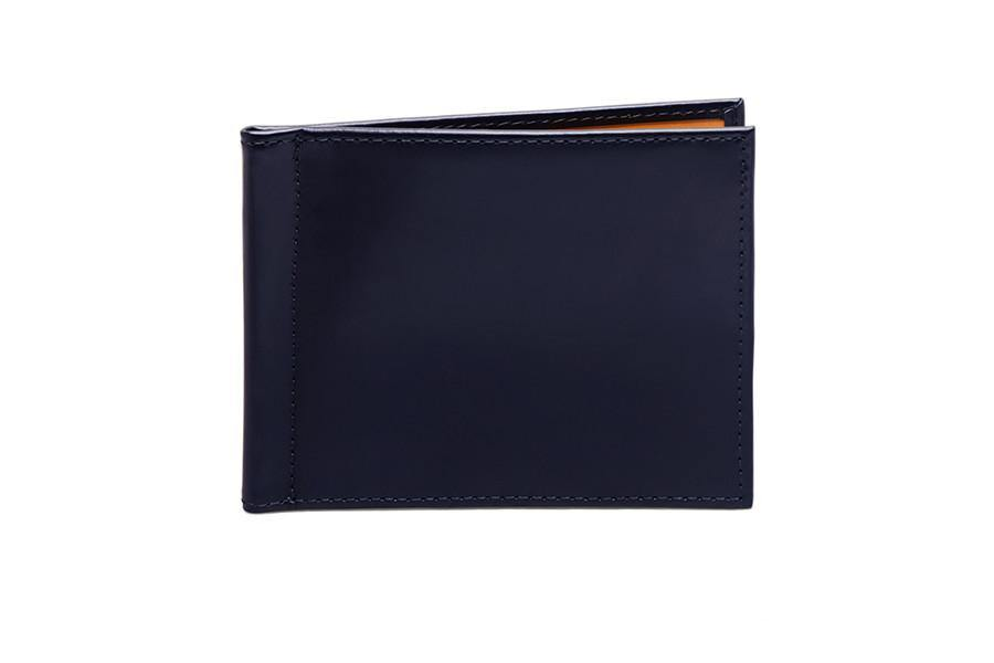Bridle Money Clip Wallet - Navy (Personalisation)