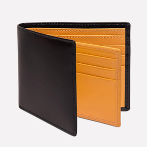 Bridle Hide Billfold with 12C/C - Black (Personalisation)