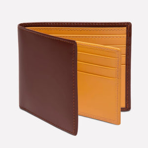 Bridle Hide Billfold with 12C/C - Havana (Personalisation)