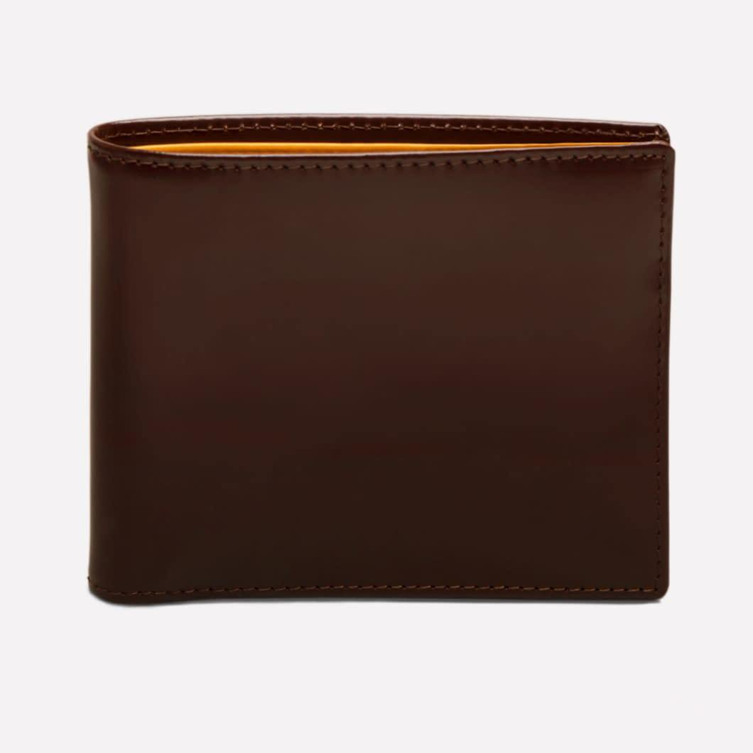 Bridle Hide Billfold with 12C/C - Nut (Personalisation) - onlybrown