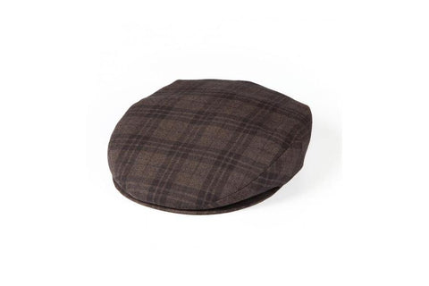 Brown Chequered Flat Cap