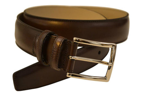 Brown Hand-Painted Dress Belt - onlybrown