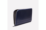 Capra Medium Zip Clutch - Marine Blue - onlybrown