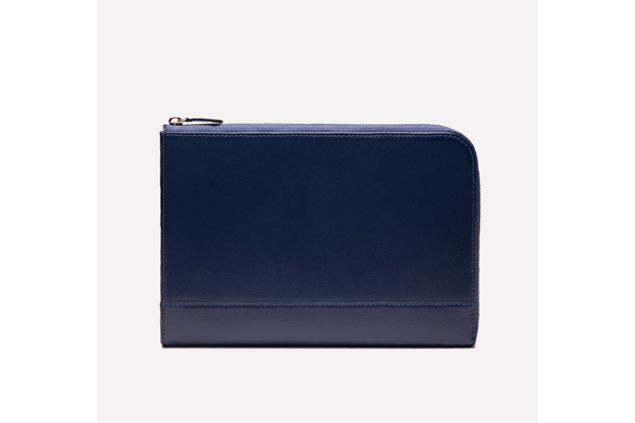 Capra Medium Zip Clutch - Marine Blue