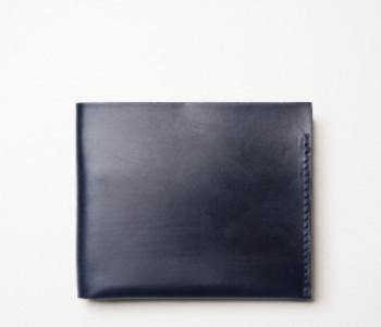 Navy Bridle Wallet - onlybrown