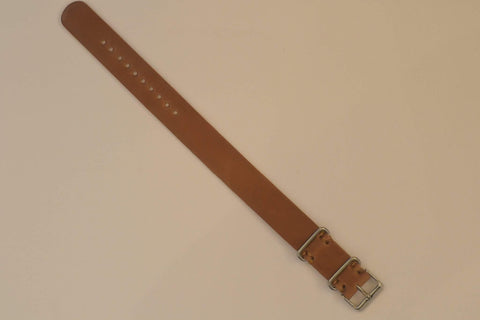 Horween Natural Shell Cordovan Strap (20mm) - onlybrown