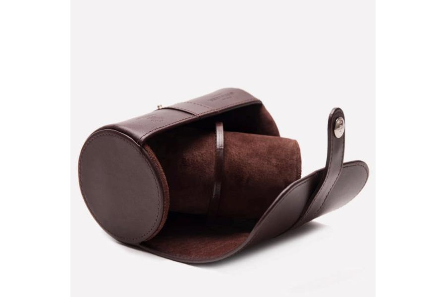 Double Watch Roll - Chestnut (Personalisation)