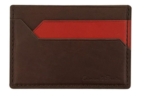 2-Tone Card Case (DkBrn-Red)