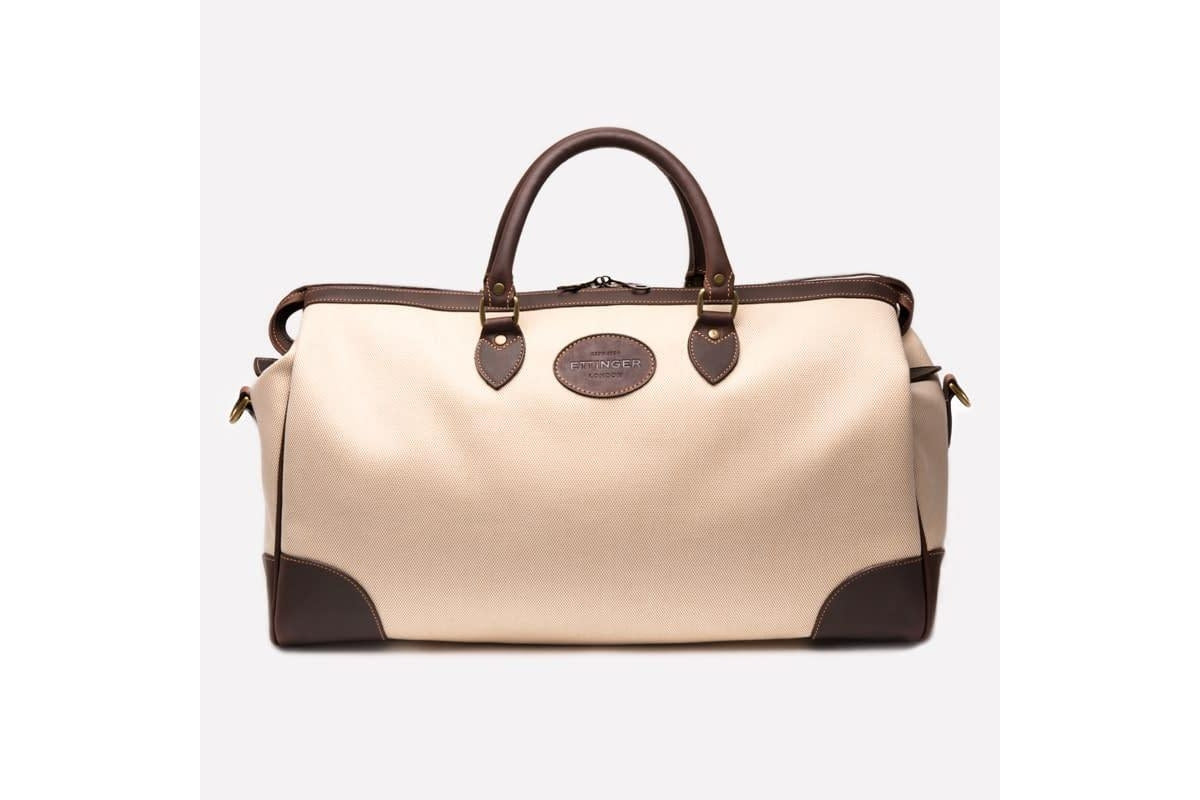 Hurlingham Overnight Bag - Ivory (Personalisation)