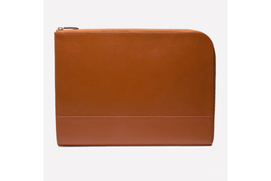 Capra Large Zip Clutch - Tan
