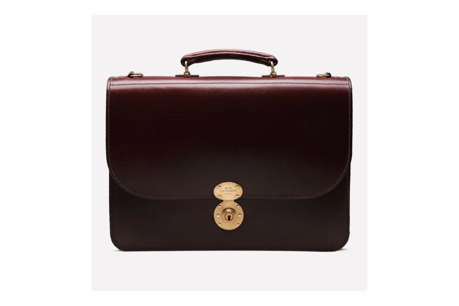 Westminster Flap-Over Briefcase - onlybrown
