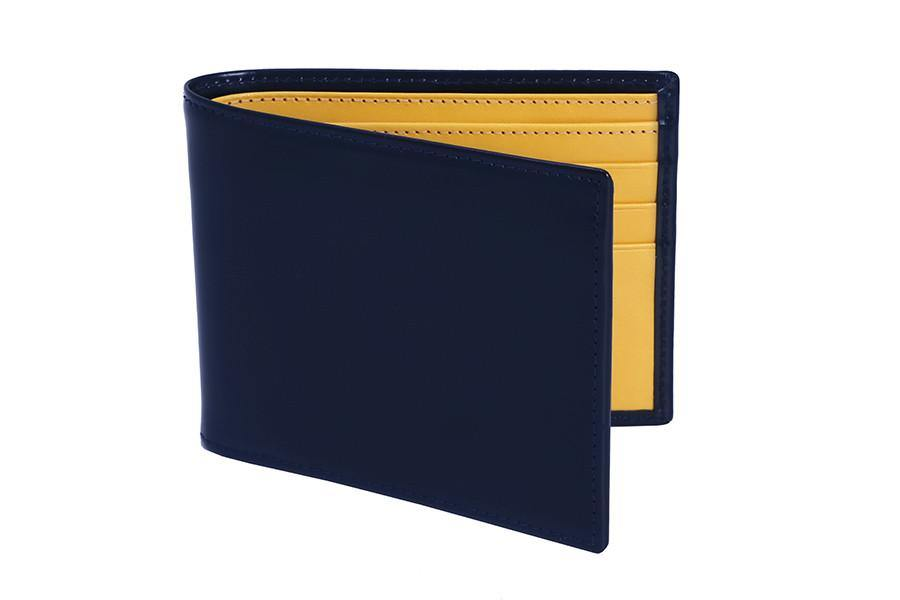 Bridle Hide Navy Billfold - onlybrown