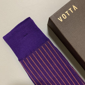 Two-Tone Ribbed Purple