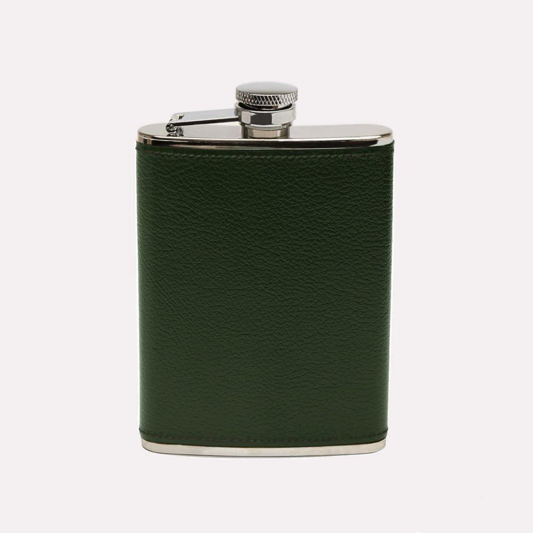 Capra Leather Wrapped Hip Flask (6oz)