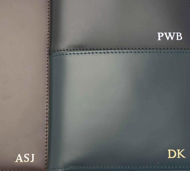 Bridle Hide Billfold With Coin Pocket - Navy (Personalisation) - onlybrown