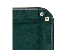 Leather Travel Tray - Green