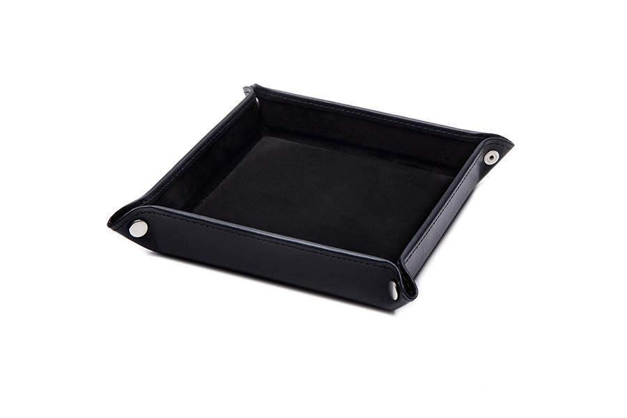 Leather Travel Tray - Black