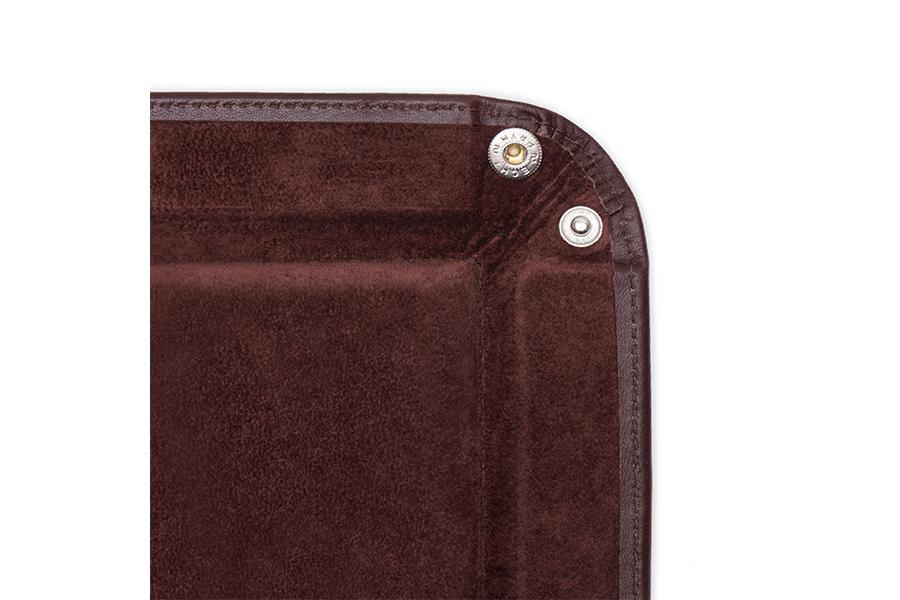 Leather Travel Tray - Chestnut
