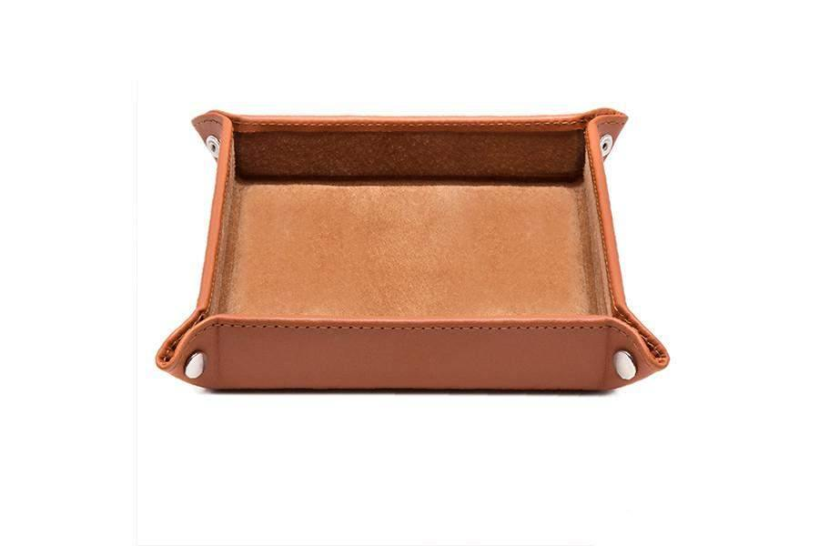 Leather Travel Tray - Tan