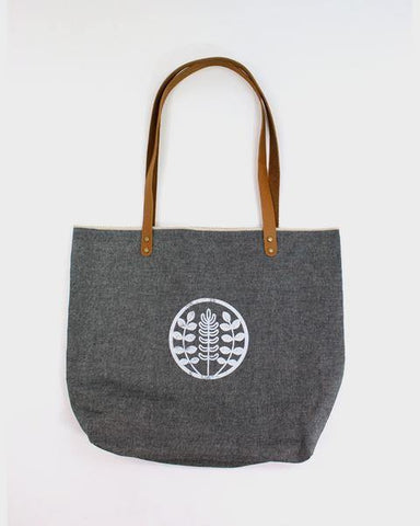 Large Chambray Denim Tote