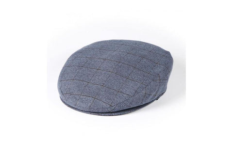 Light Blue Prince of Wales Flat Cap