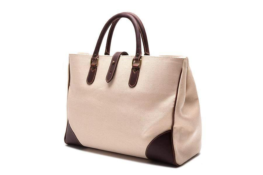 Piccadilly Canvas Tote - Ivory