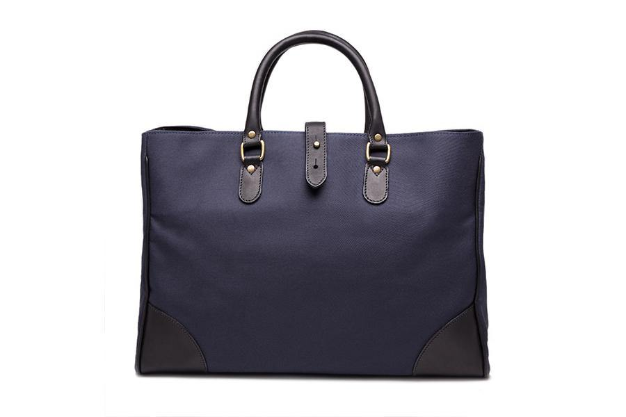 Piccadilly Canvas Tote - Navy