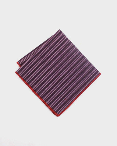 Kimono Purple Stripes Pocket Square