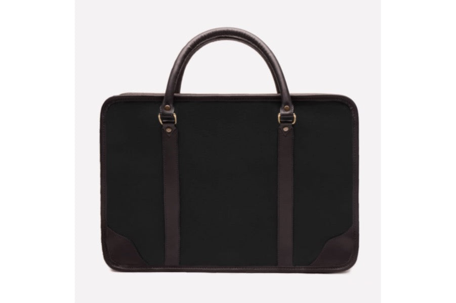 Putney Canvas Briefcase - Black