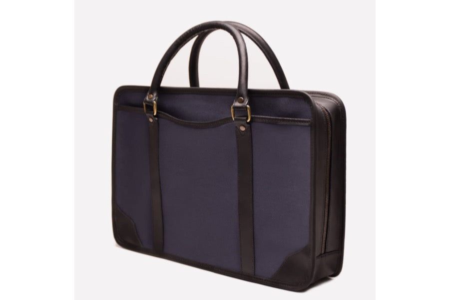 Putney Canvas Briefcase - Navy