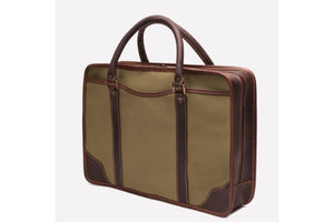 Putney Canvas Briefcase - Olive