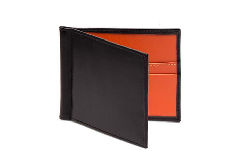 Sterling Orange Money Clip Wallet (Personalisation)