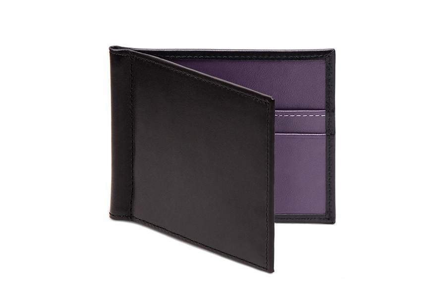 Sterling Purple Money Clip Wallet (Personalisation) - onlybrown