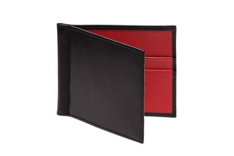 Sterling Red Money Clip Wallet (Personalisation)
