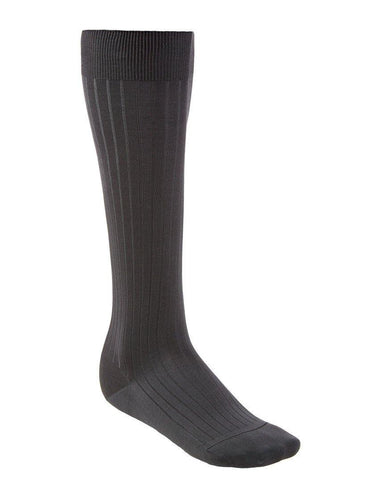 Over-The-Calf Cotton Socks - Dark Gray - onlybrown