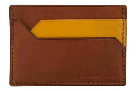 2-Tone Card Case (Tan-Mustard)