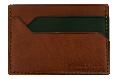 2-Tone Card Case (Tan-Green)