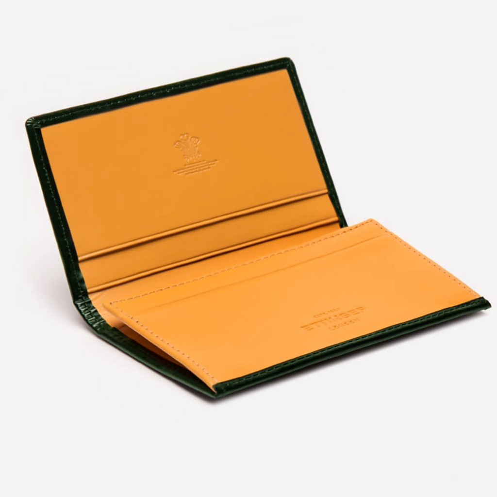 Bridle Visiting Card Case (Green) - onlybrown
