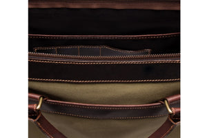 Wimbledon Briefcase - Olive