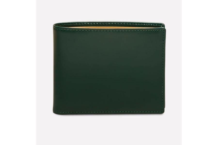 Bridle Hide Billfold With 12C/c - Green (Personalisation) - - Personalisation