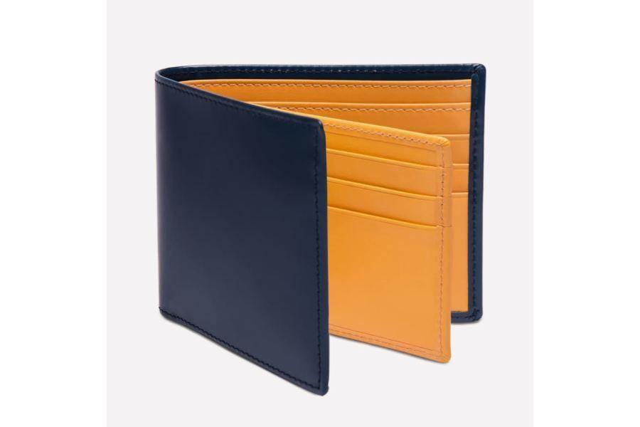 Bridle Hide Billfold With 12C/c - Petrol Blue (Personalisation) - - Personalisation