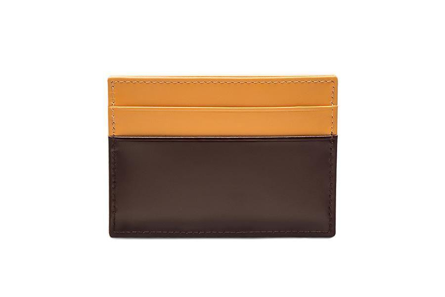 Bridle Hide Flat Card Case - Nut