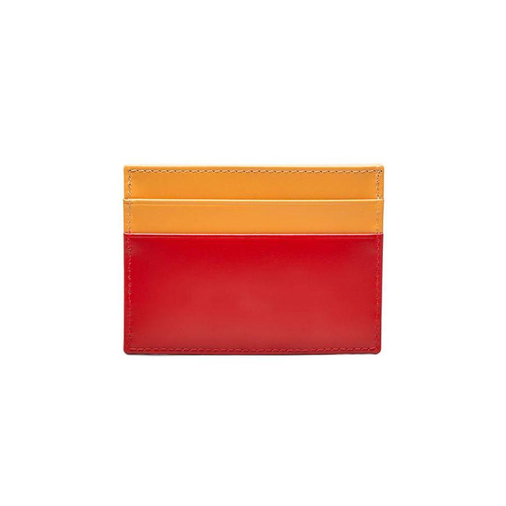 Bridle Hide Flat Card Case - Red (Personalisation) - -