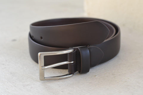 Smooth Box Calf Leather Belt - onlybrown