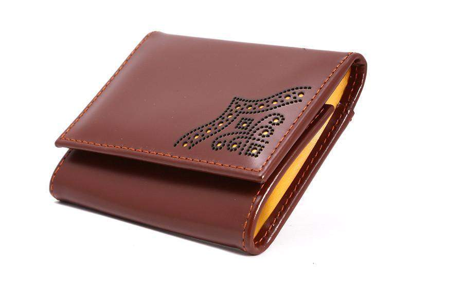 Brogue Coin Case - onlybrown