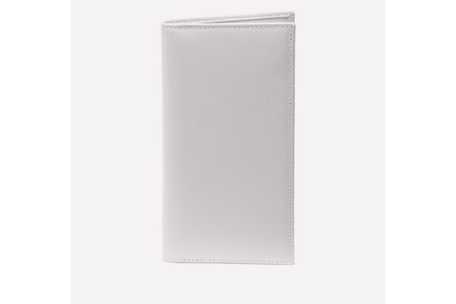 Capra Coat Wallet - White - onlybrown