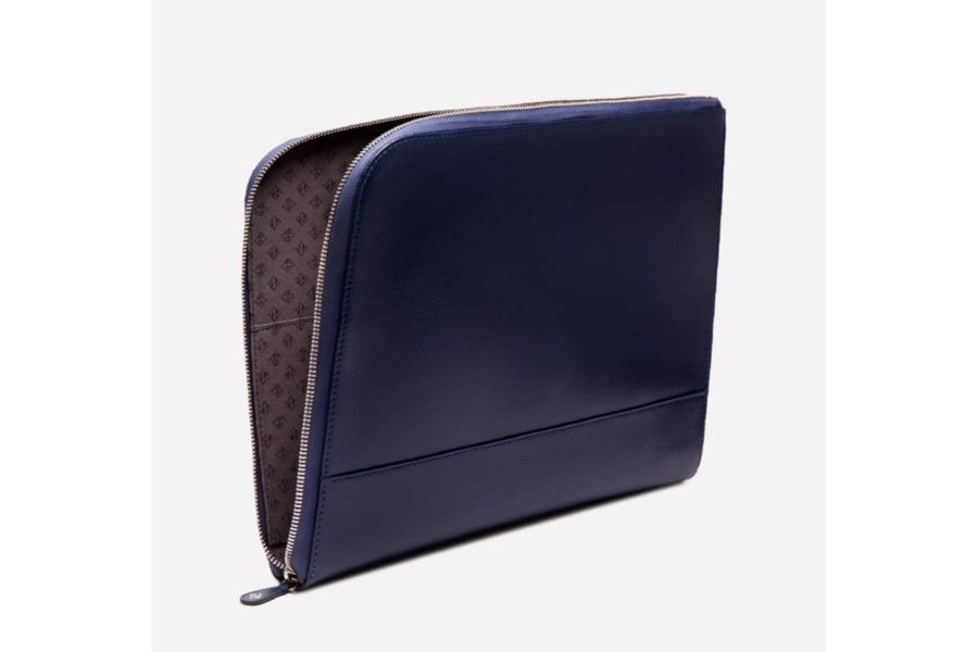 Capra Large Zip Clutch - Marine Blue