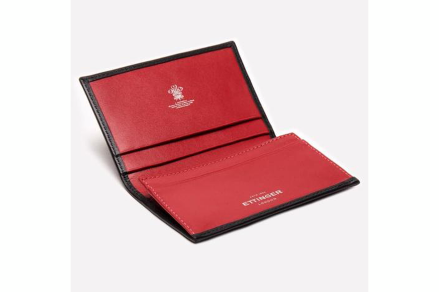 Sterling Visiting Card Case - Red (Personalisation)